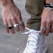 Anillo Sello Ancla para hombre, índice derecho - XXL Hardwear Shop Barcelona