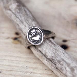 anillo sagrado corazón plata