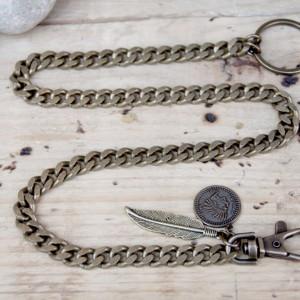 Cadena de cartera para hombre - cadena de cartera para hombre - cadena de cartera indiana acabado oro viejo - XXL Hardwear Shop Barcelona