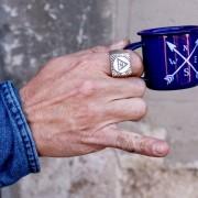 Anillo Cuadrado para hombre Illuminati Plata - XXL Hardwear Shop Barcelona